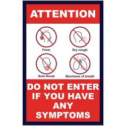 Covid 19 A Frame Signs / Sidewalk Signs - Attention Do Not Enter If you Have Symptoms