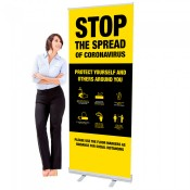 Covid 19 Roll up Banner Stands (2)